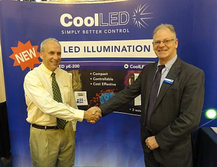 Jim Beacher and Dave Denu of CoolLED USA at Neuroscience 2012