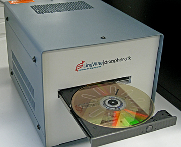 The Lab on DVD unit converted by researchers at the School of Biotechnology at the KTH Royal Institute of Technology