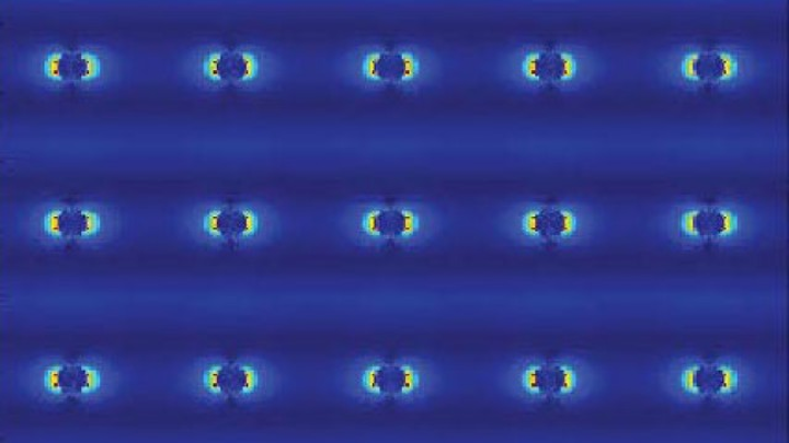 Silver nanopillars from laser simulation are shown.